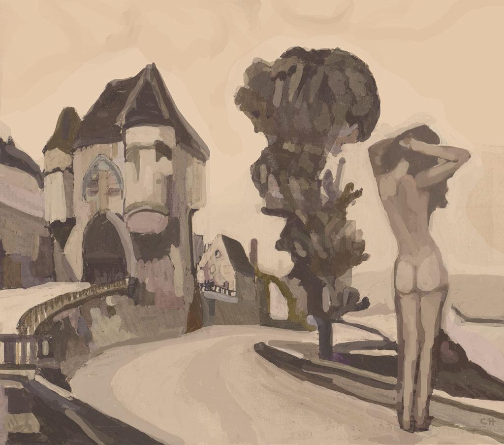 agosto 2016. Pintura digital. Impresión giclée s/ papel de algodón 300 grs. 40x45 cm. 1/1.